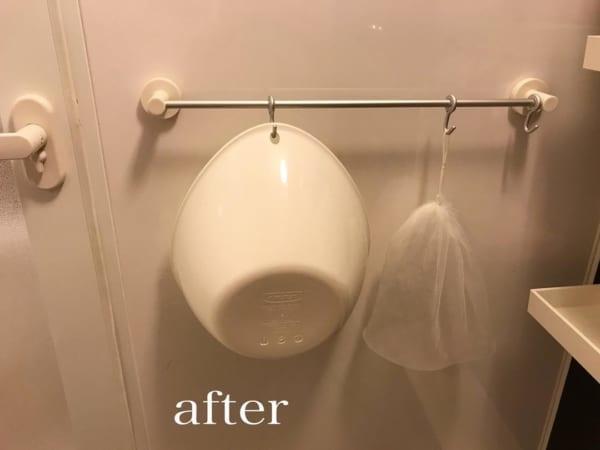 アルミタオルハンガー用フック:バスルームで桶の吊り下げに