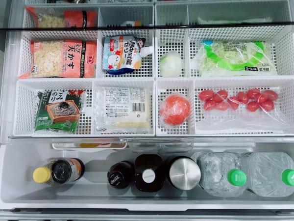キッチン冷蔵庫内収納で☆仕切りボックス