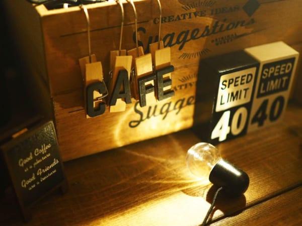 ■15.【キャンドゥ】CAFE木製クリップ/16.【キャンドゥ】看板クリップ/17.【セリア】ウッド小物 速度制限