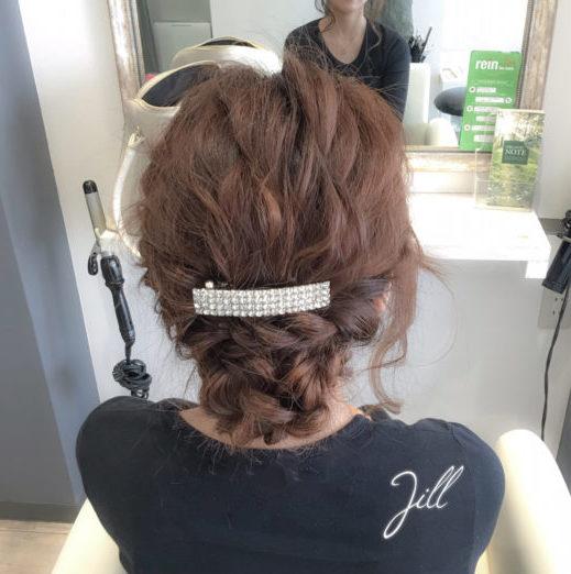 バレッタを使ったまとめ髪5