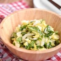 【新連載】白菜の消費にもオススメ!濃厚ピリ辛白菜のガーリックオイルサラダ