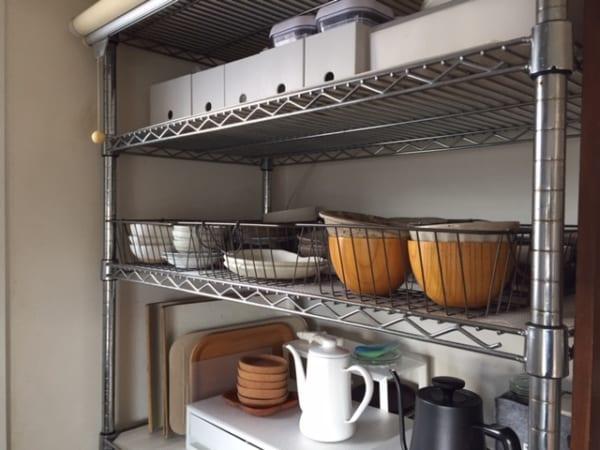 ダイソー】のカゴで食器を収納16