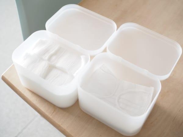 4.「積み重ねボックス小・フタ付き」の収納アイデア