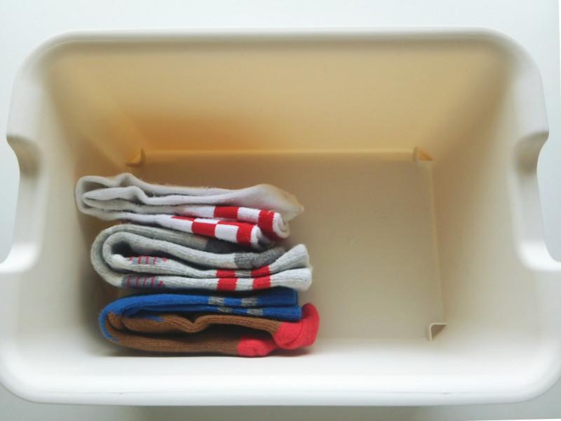 靴下のたたみ方&収納実例をご紹介15
