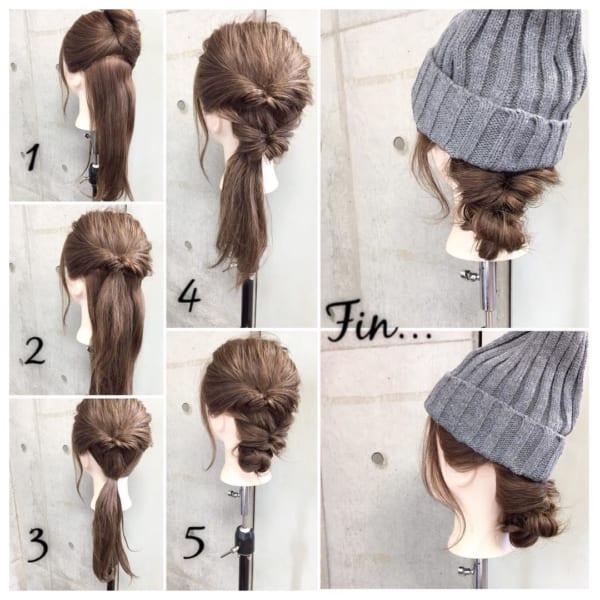 冬のファッションに合わせたい!ニット帽やベレー帽に合うヘアアレンジ♡2