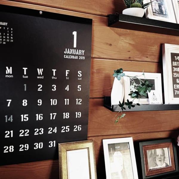 大きいサイズのカレンダー(セリア)