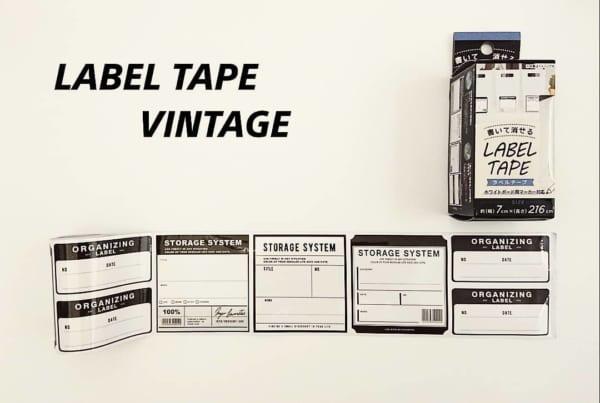 書いて消せるラベルテープ