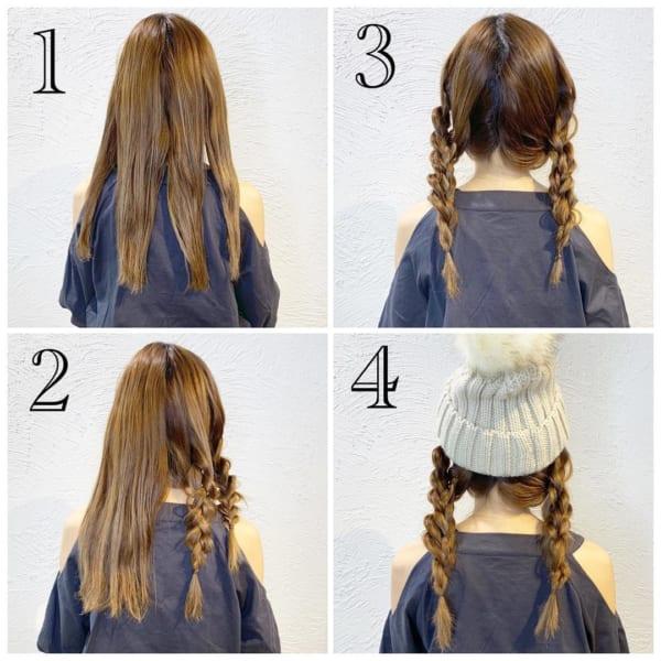 冬のファッションに合わせたい!ニット帽やベレー帽に合うヘアアレンジ♡12