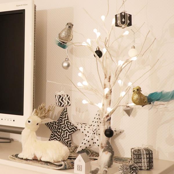 シンプルで落ち着きのあるクリスマスの飾り付けアイディア13