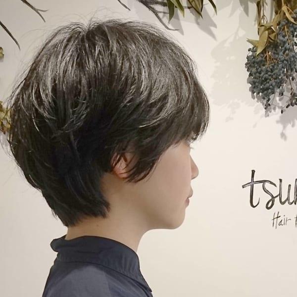 くせ毛風ショートヘア11