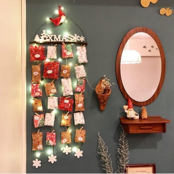アドベントカレンダーでクリスマスのカウントダウン
