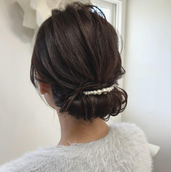 結婚式におすすめの髪型 清楚で可愛らしいアップスタイルを長さ別にご