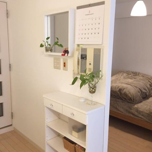 家具の配置バランスでスペースを区切った一人暮らしインテリア6