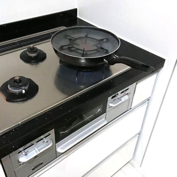 五徳はフライパンで煮洗いを