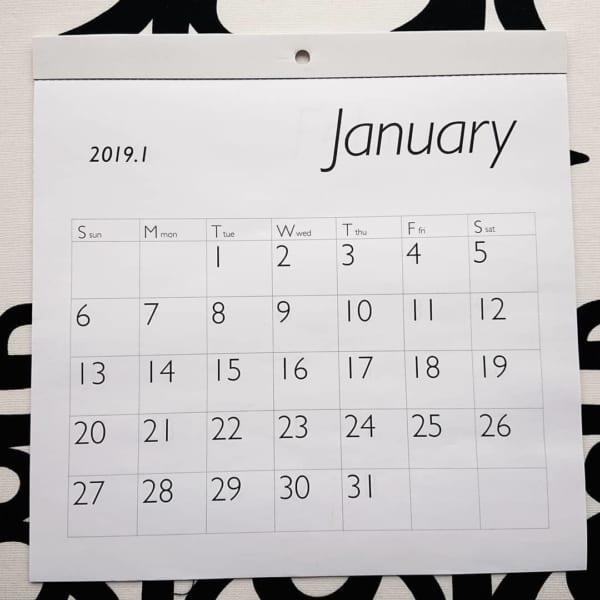 シンプルなカレンダー(セリア)