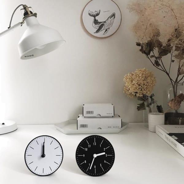 セリアの壁掛け時計をもっと便利に♪