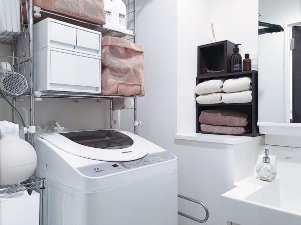 洗濯機ラックを使用した収納例13