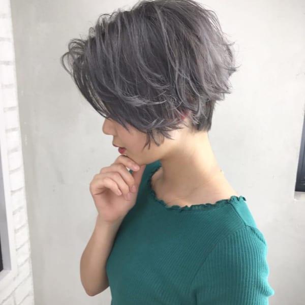 くせ毛風ショートヘア14