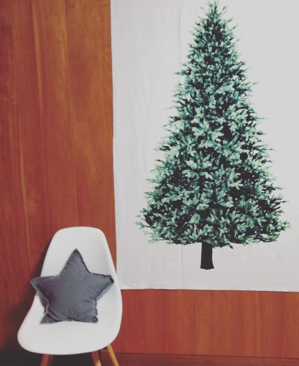ツリータペストリーのあるクリスマス風景♡