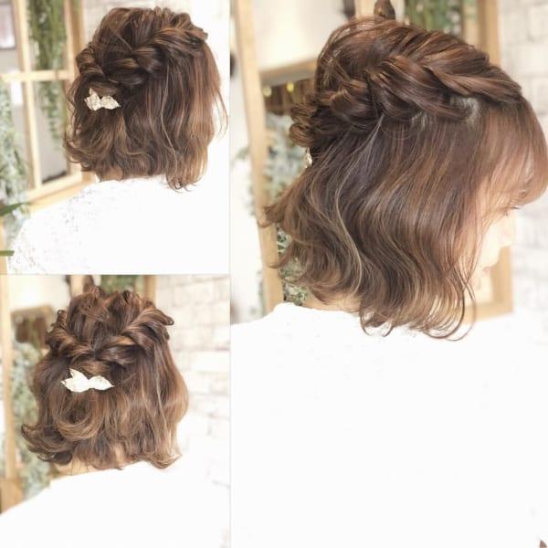 ショートボブのヘアアレンジ69