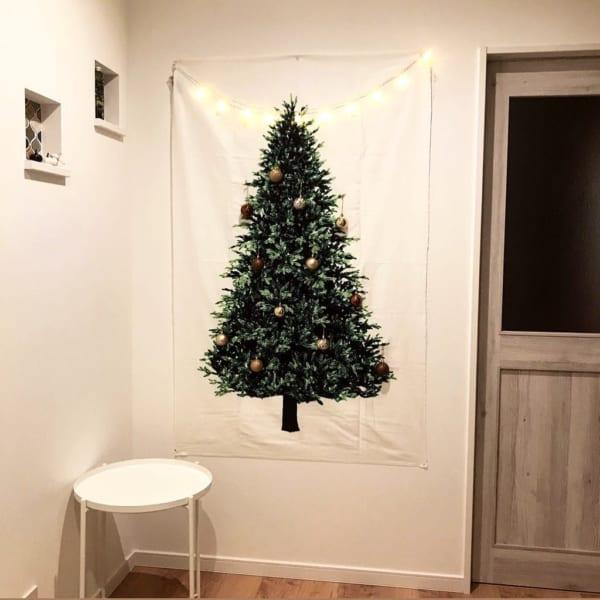 ツリータペストリーのあるクリスマス風景♡5