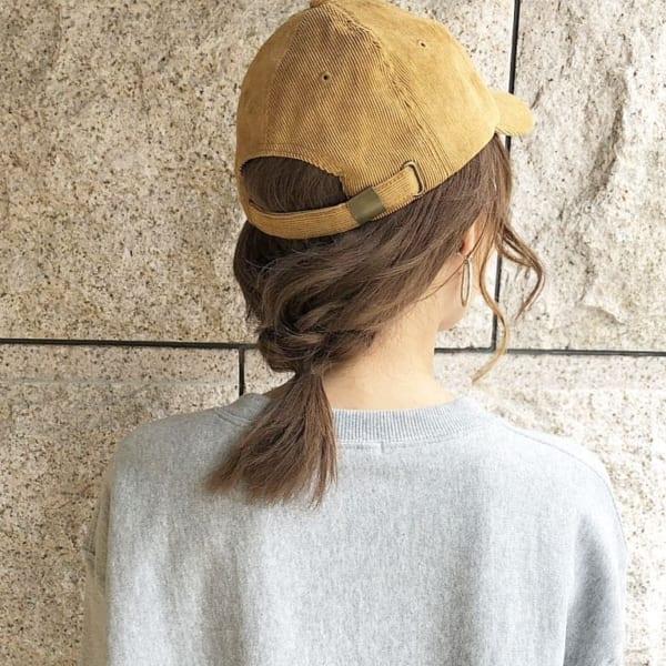 キャップなどの帽子のためのアレンジ