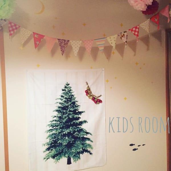 ツリータペストリーのあるクリスマス風景♡8