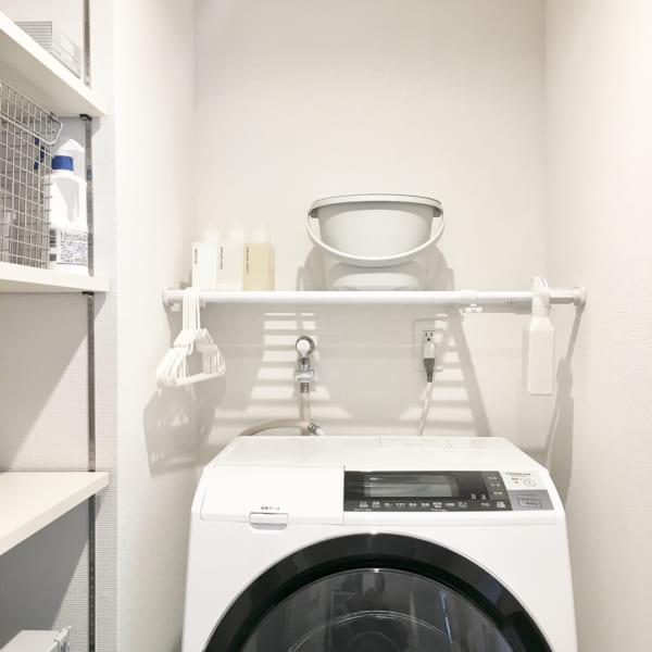 洗濯機ラックを使用した収納例15