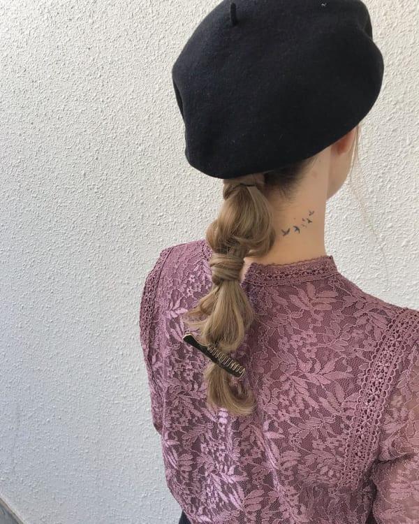 冬のファッションに合わせたい!ニット帽やベレー帽に合うヘアアレンジ♡6