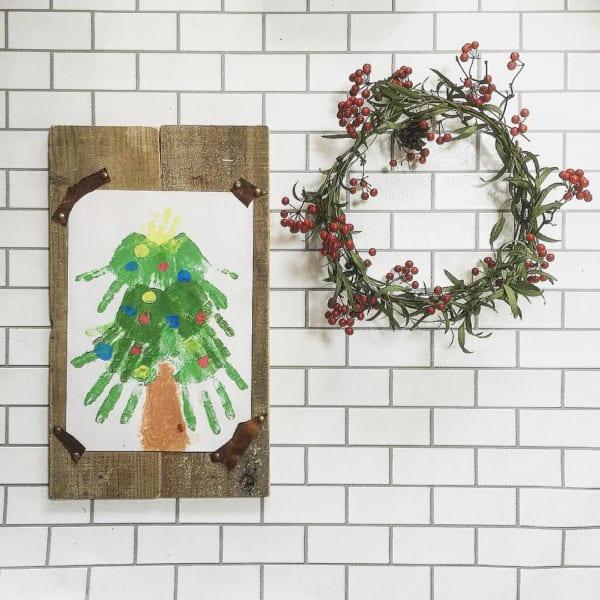 植物のナチュラル感が素敵なクリスマスディスプレイ6