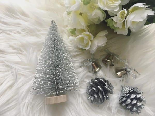 モノトーン調クリスマス雑貨(セリア)