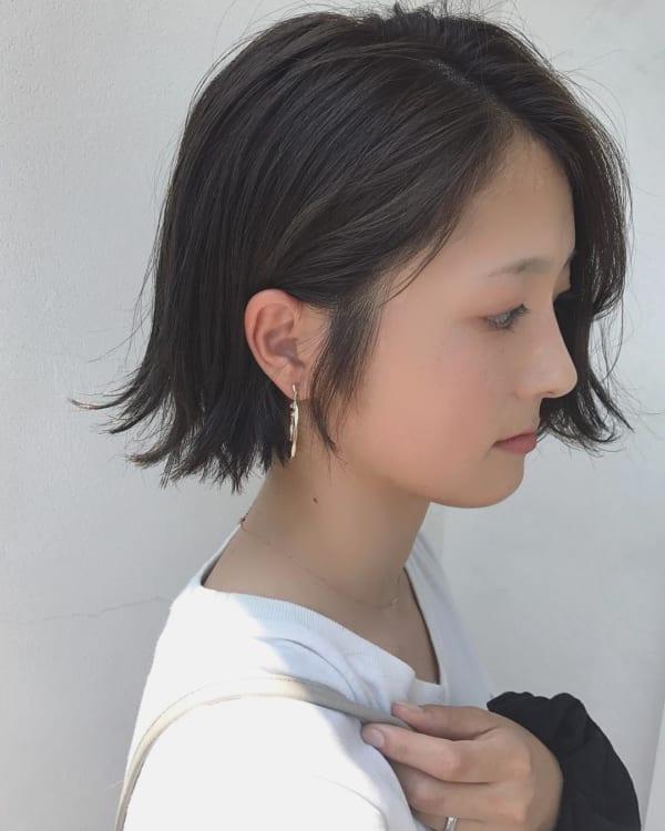 前髪なしの外ハネボブ4