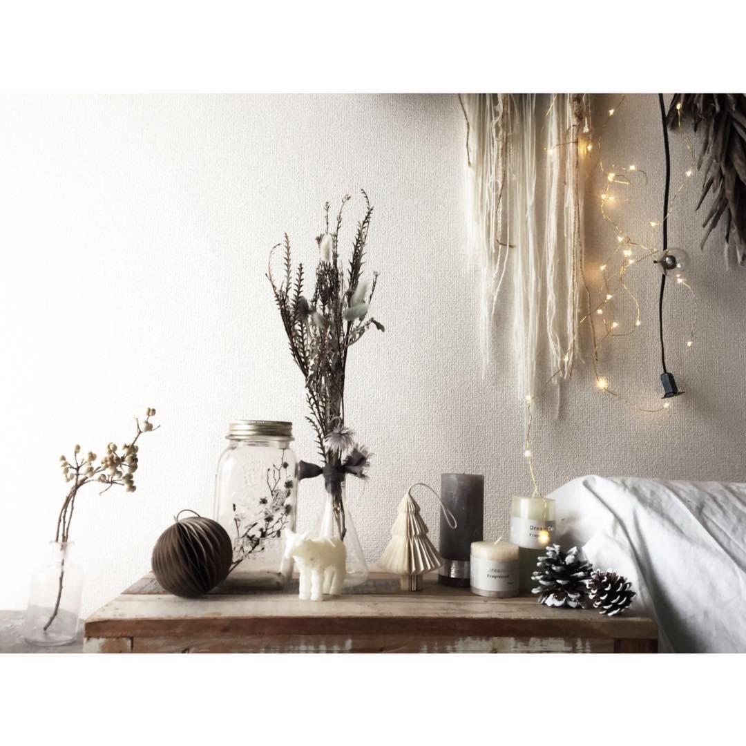 植物のナチュラル感が素敵なクリスマスディスプレイ9