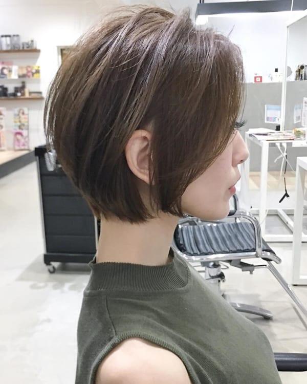 ショートボブのヘアアレンジ76
