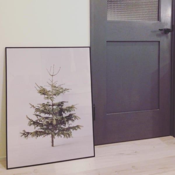 ポスターやペストリーを使ったシンプルなクリスマスディスプレイ