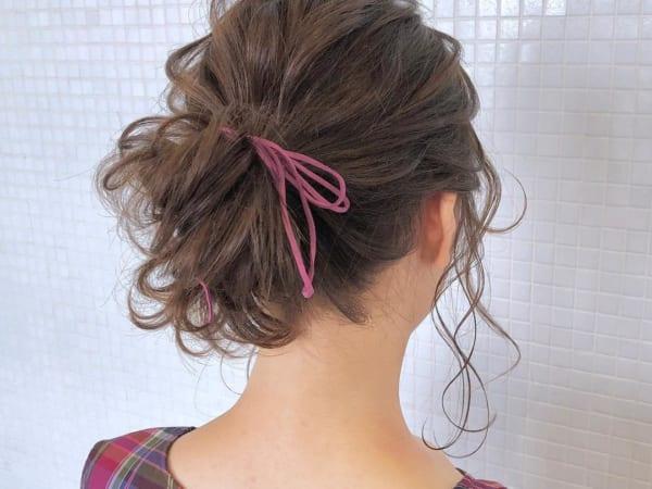 ゴムだけで作る簡単まとめ髪6