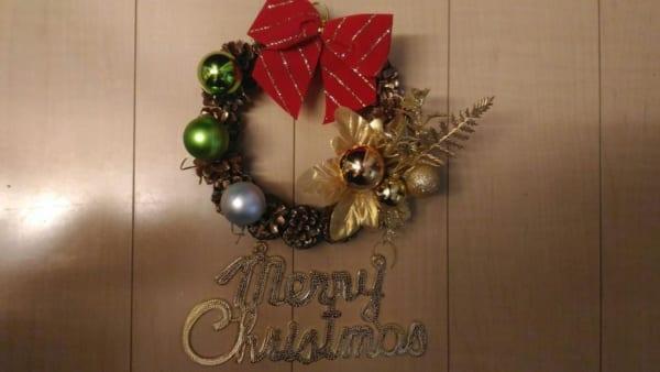松ぼっくりのクリスマスリース