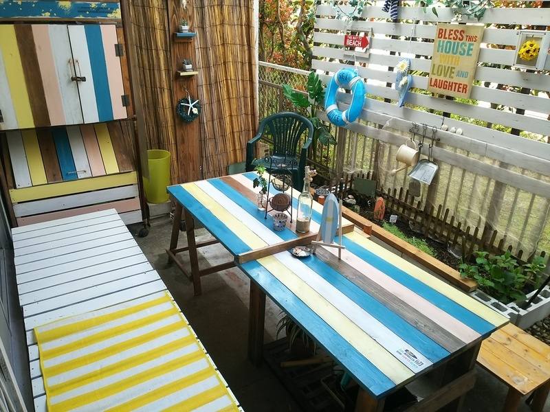 庭に椅子やベンチをおこう!6