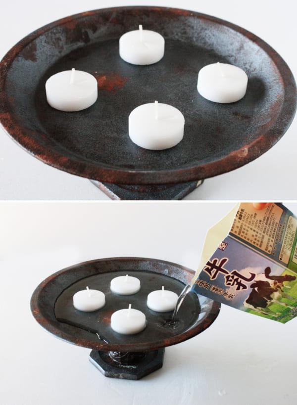 貼って塗るだけの簡単DIY!キャンドルプレートの作り方4