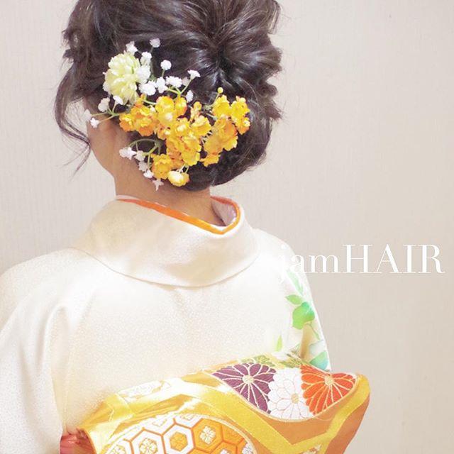 和装に合わせたいイマドキヘアアレンジ4