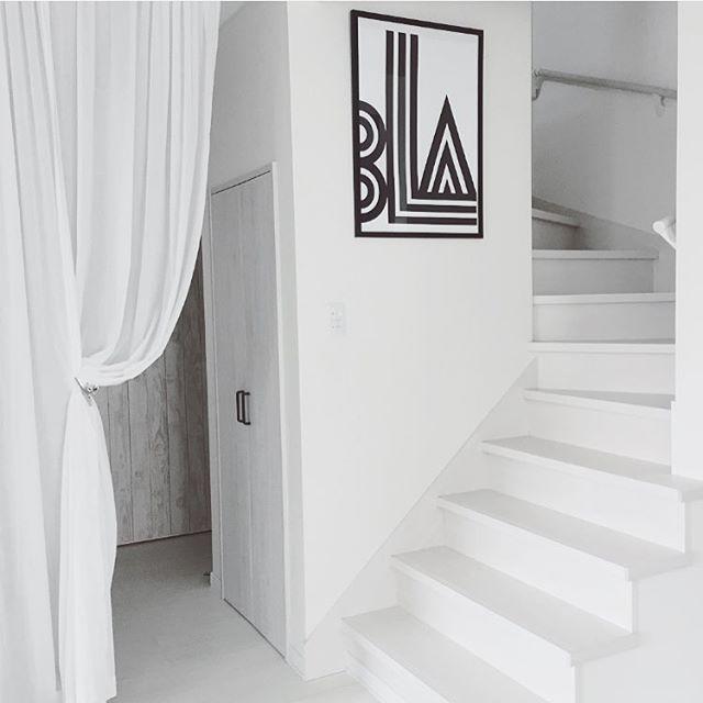階段もホワイトに