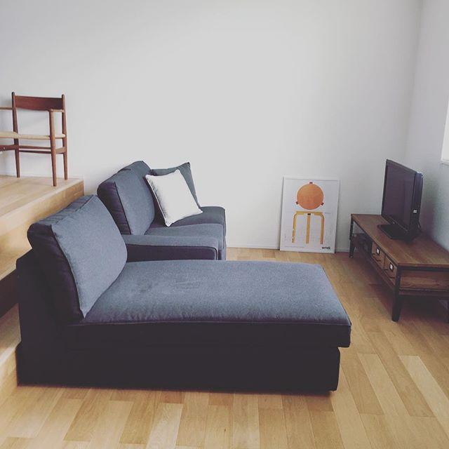 IKEA 寝椅子がセットになったソファ