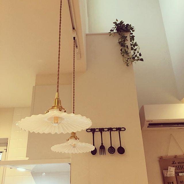 キッチンのペンダント照明
