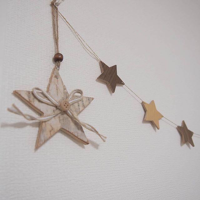 木製の星型ガーランド