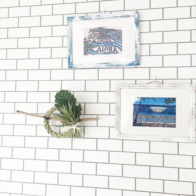 しめ縄を壁面に飾る3