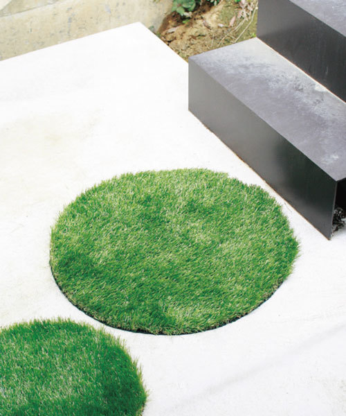 [SPICE] 人工芝グリーングラスマット ラウンド Lサイズ GRASS MAT 65cm