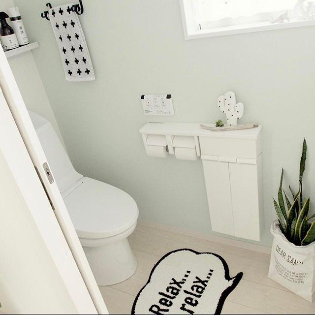 トイレもホワイトカラーで