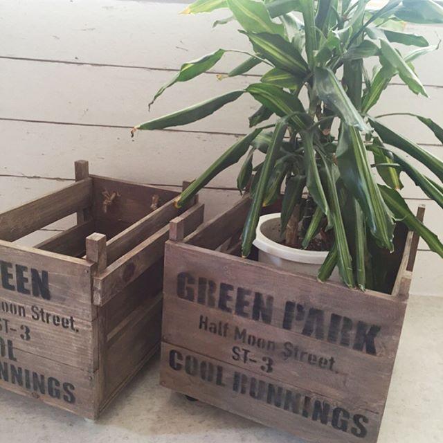 古材風の木箱を作成
