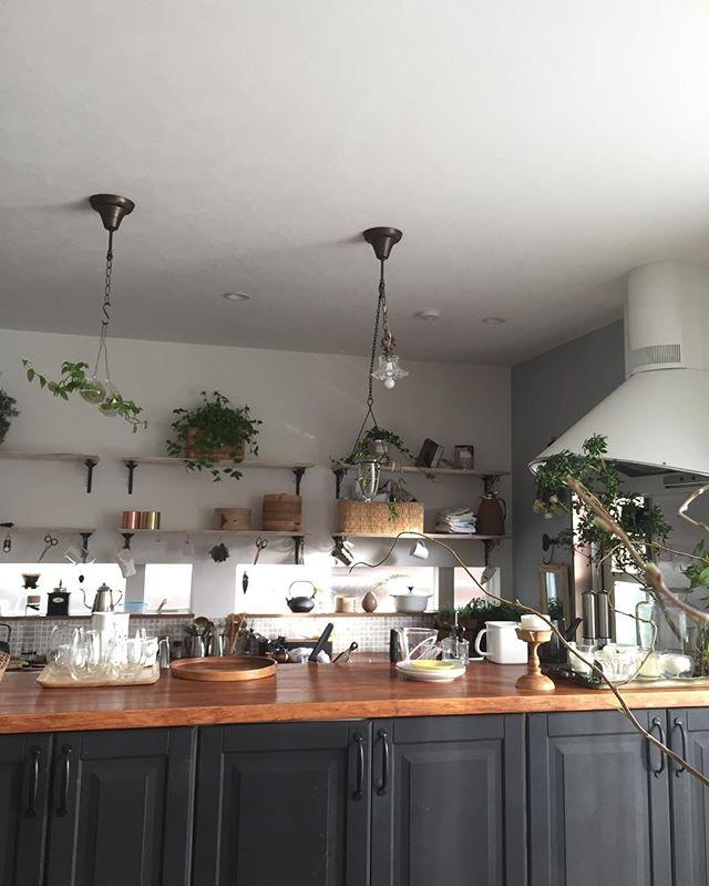 キッチンのペンダント照明3