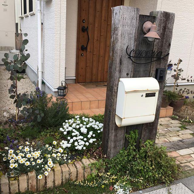 おしゃれな郵便ポストがある風景2